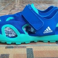 Sepatu Sandal anak Adidas Captain toey K biru hijau