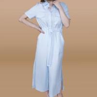 Kakuu Basic - Soft Shirt Dress Maxi
