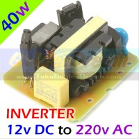 Inverter 40w DC 12v ke AC 220v Energy Listrik Solar Cell Power Aki C