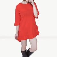 Kakuu Basic - Frill Detail Mini Dress