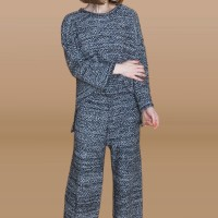 Kakuu Basic - 1 Set Knit Top + Pants