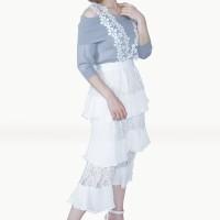 Kakuu Basic - Lace Stack Suspender Skirt