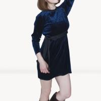 Kakuu Basic - Velvet Mini Dress