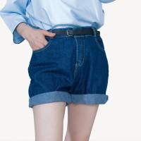 Kakuu Basic - Folded Denim Shorts