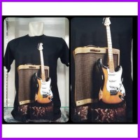 Gdw Man Tshirt Gitar Fashin Pria Kaos Pria Tshirt Kaos Santai Fashion