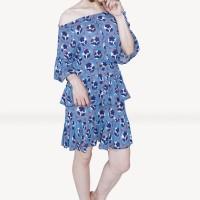 Kakuu Basic - Shoulder Off Floral Dress