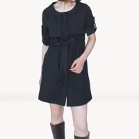 Kakuu Basic - High Waist Flap Mini Dress