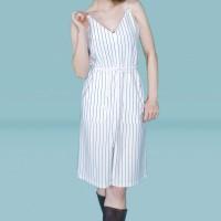 Kakuu Basic - Sleeveless Stripe Jumpsuit