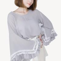 Kakuu Basic - Flare Sleeve Blouse