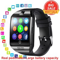 Bluetooth Smart Watch Men Q18 With Touch Screen Big Battery Support