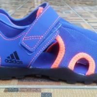 Sepatu sandal Adidas Captain toey k biru hitam