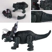 [Bayar di Tempat]Mainan Dinosaurus Triceratops Elektronik dengan