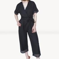 Kakuu Basic - Belt Set V-Neck Jumpsuit