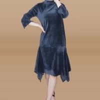 Kakuu Basic - Velvet Midi Dress