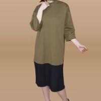 Kakuu Basic - Pleat Accent Maxi Dress