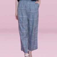 Kakuu Basic - Crop Checked Pants