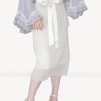 Kakuu Basic - Beltset Stack Midi Skirt