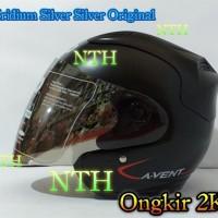 Helm LTD Avent Hitam doft dan kaca helm LTD Avent Iridium Silver ori