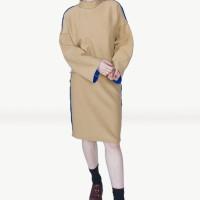 Kakuu Basic - 1 Set High Neck Top + Midi Skirt