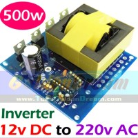 Inverter 500w DC 12v to AC 220v Energy Listrik Solar Cell Power Accu
