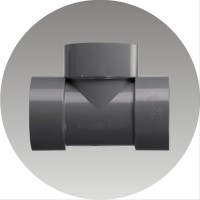 Fitting Sambungan Pipa Air Paralon PVC Tee D Uk. 3& 34 x11 2& 34 Ruc