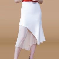 Kakuu Basic - Transparent Layered Trumpet Skirt