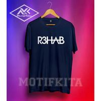 Kaos Baju Obral Combed 30s Distro Dj R3hab Polos Custom Rehab Edm