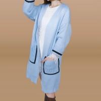 Kakuu Basic - Oversized Knit Long Cardigan