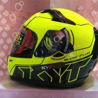 promo KYT K-2 RIDER SUPER FLUO SERI 1 YELLOW