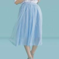 Kakuu Basic - Mesh Flare Skirt
