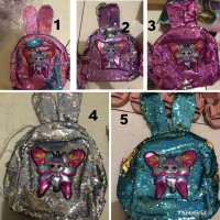 Tas lol mini bunny sequin 1463 anak import