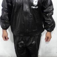 baju sauna TNI AD HITAM - setelan sauna TNI AD HITAM- jas hujan TNI