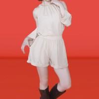 Kakuu Basic - 1 Set Cutout Shoulder Blouse + Shorts