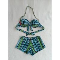 bikini set bra ikat celana boxer baju renang pantai wanita 318
