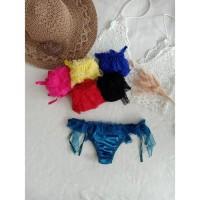 G-string renda lace celana dalam satin gstring wanita 603