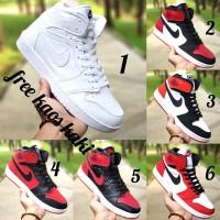 Nike Jordan size 39 - 43 sepatu pria olahraga basket merah hitam putih - Satu, 39