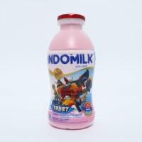 Indomilk Botol Strawberry 190 ml