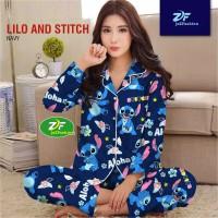 Piyama PP Stitch Aloha - Katun Jepang - Baju Tidur Murah Wanita Dewasa