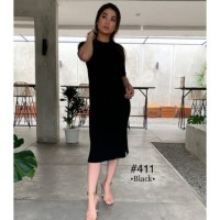 Slit Midi Knitt Dress