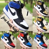 Nike Air Jordan sepatu basket pria size 39 - 43 putih merah hitam - Lima, 39