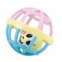 Bola Rattle / Mainan Bayi / Kerincingan Pink Biru