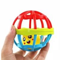 Bola Rattle / Mainan Bayi / Kerincingan Merah Biru