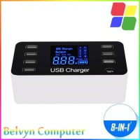 Smart Powerstrip Charger USB 8 Port Type C 8A 40W + LED Display PS022