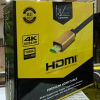 Kabel HDMI versi 2.0,4k. Garansi 2 Thn. 50m + IC. Rvtech Buggati.