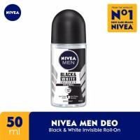 Nivea men deodorant 50 ml invisible roll on black white diodoran 50ml