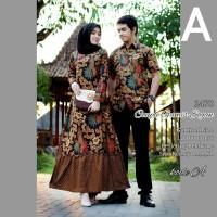 Couple Gamis Standart & Jumbo Busui // Sarimbit Kemeja Batik Modern