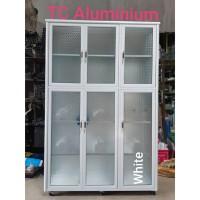 Lemari Piring Super 3 Pintu Aluminium PUTIH 106x38x168 Cm