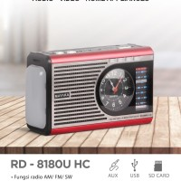 MAYAKA Radio RD-8180U HC Portable USB-SD( Lampu emergency dan Jam )