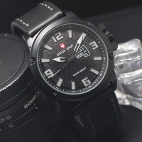 jam tangan pria swis army , tanggal & hari aktif , tali kulit