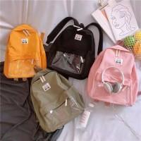 HIYA Tas Ransel Backpack Sekolah Kelinci Banny Love Transparan
